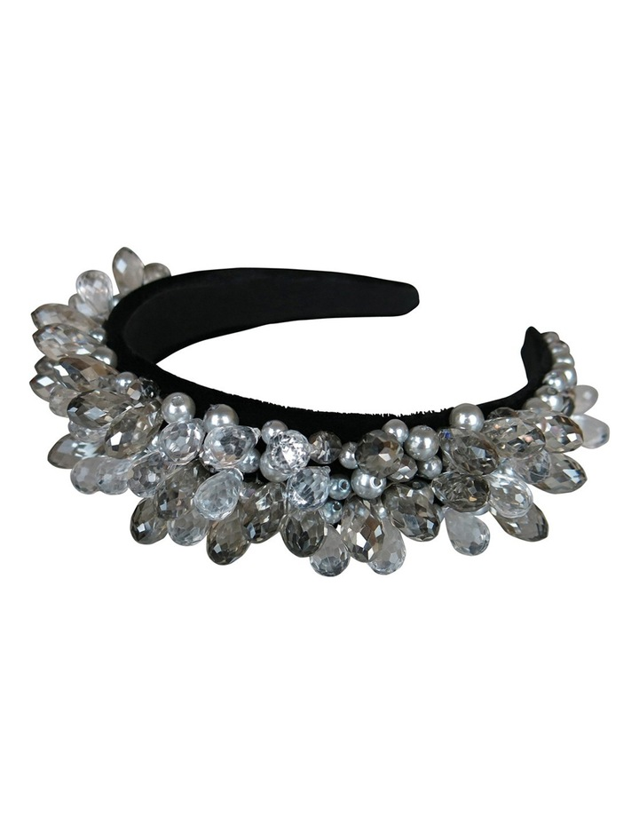Silver Gems And Pearls On Baroque Headband image 3