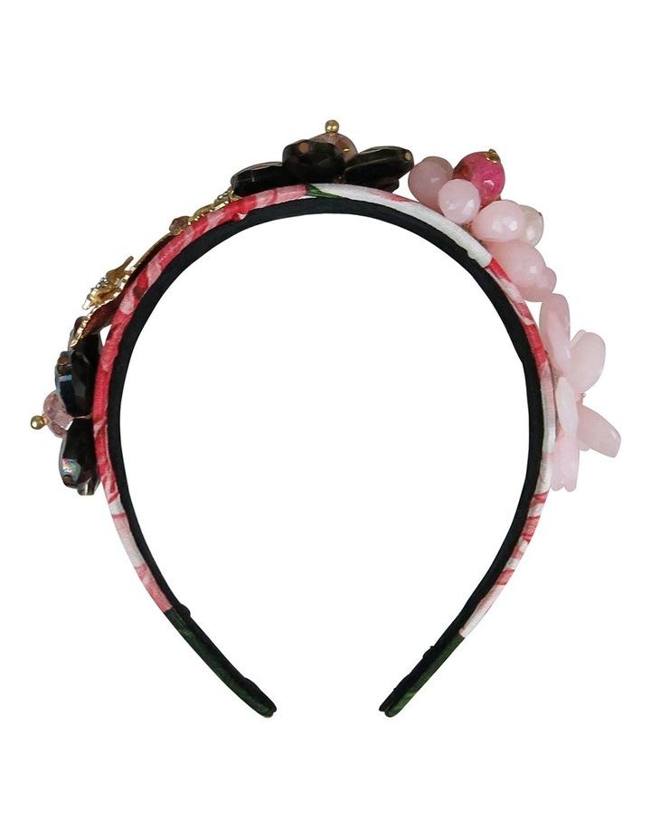 Floral Crystal Flowers And Leaves On Headband image 1
