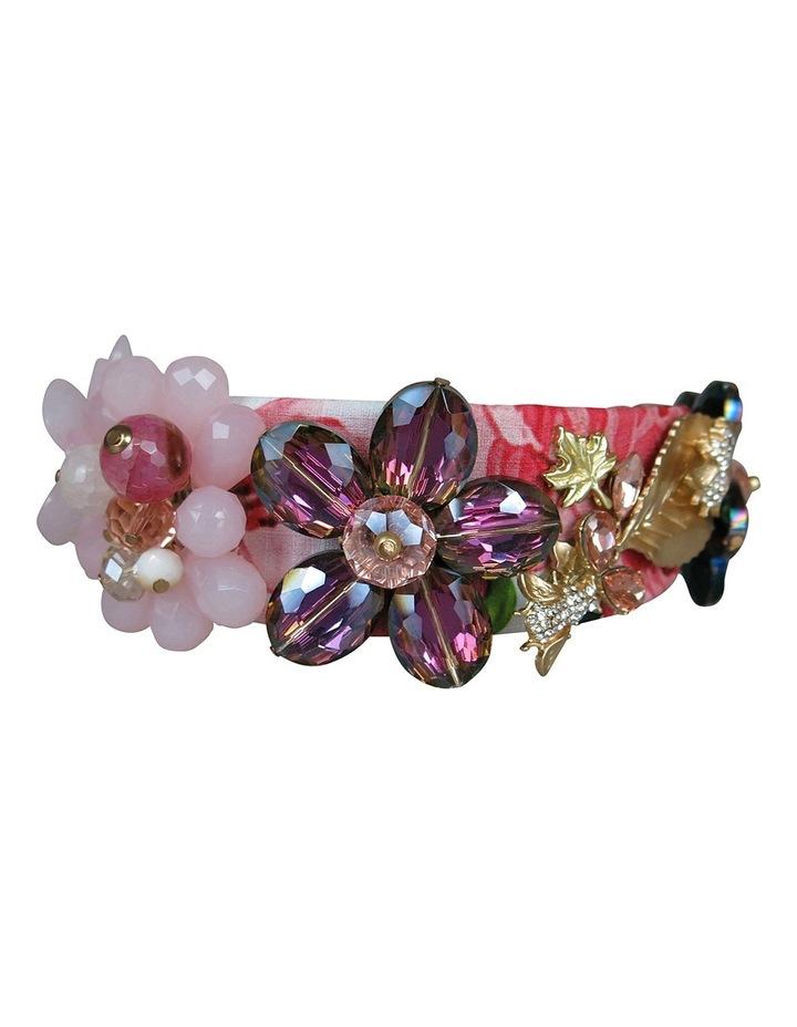 Floral Crystal Flowers And Leaves On Headband image 6