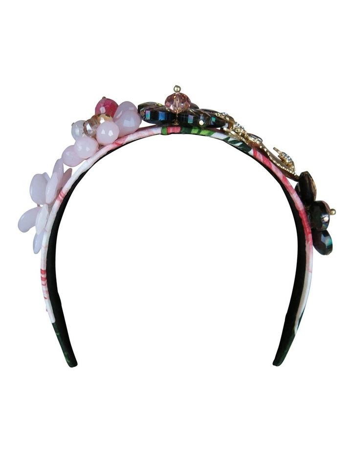 Floral Crystal Flowers And Leaves On Headband image 7