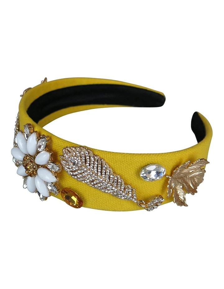 Crystal Daisy And Leaves Headband image 2