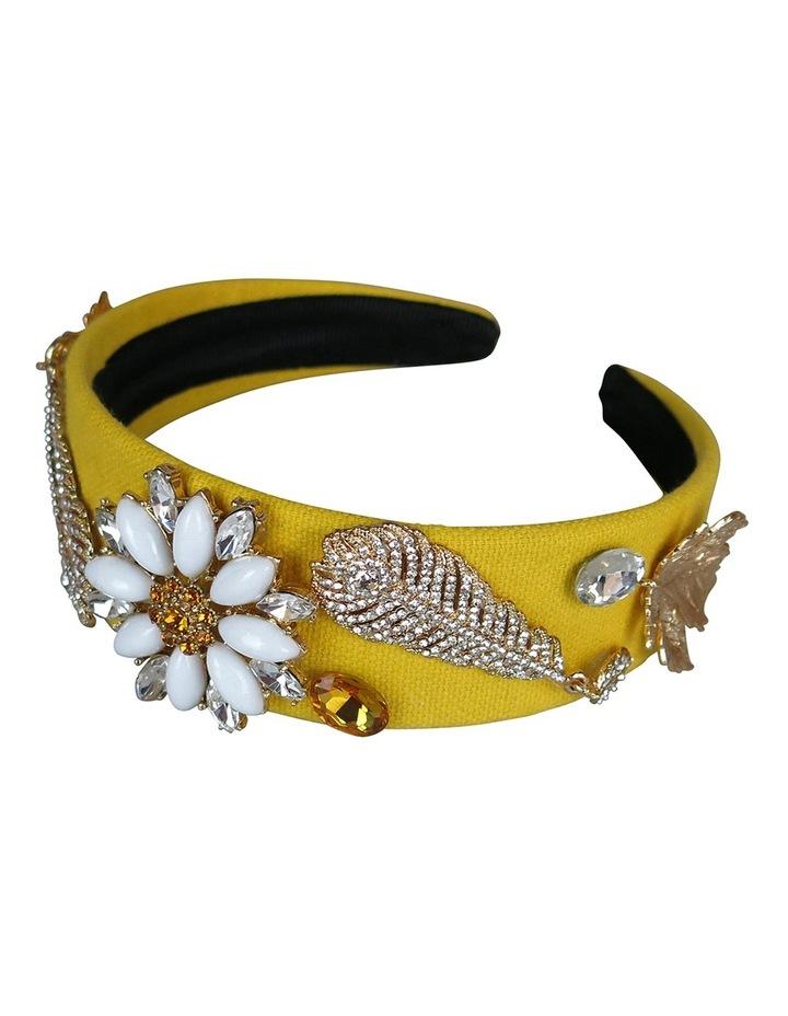 Crystal Daisy And Leaves Headband image 3