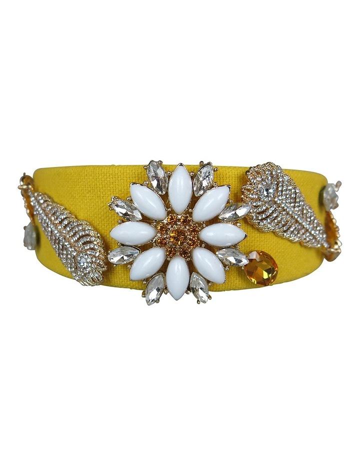 Crystal Daisy And Leaves Headband image 4