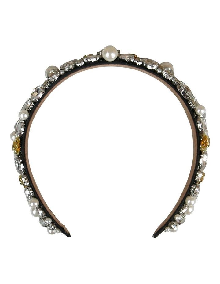 Loads Of Diamantes And Pearls On Baroque Headband image 1