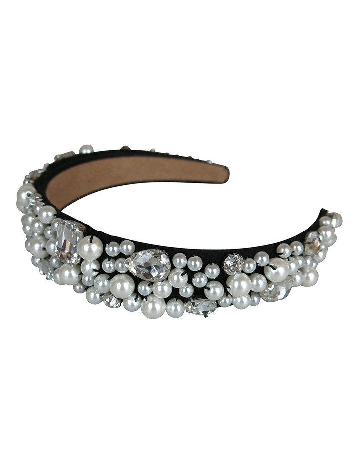 Loads Of Assort Pearls And Diamantes On Baroque Headband image 2