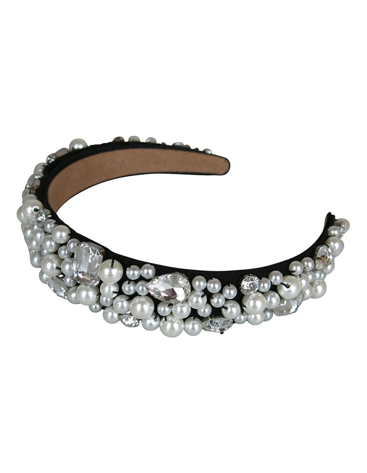 Loads Of Assort Pearls And Diamantes On Baroque Headband image 3