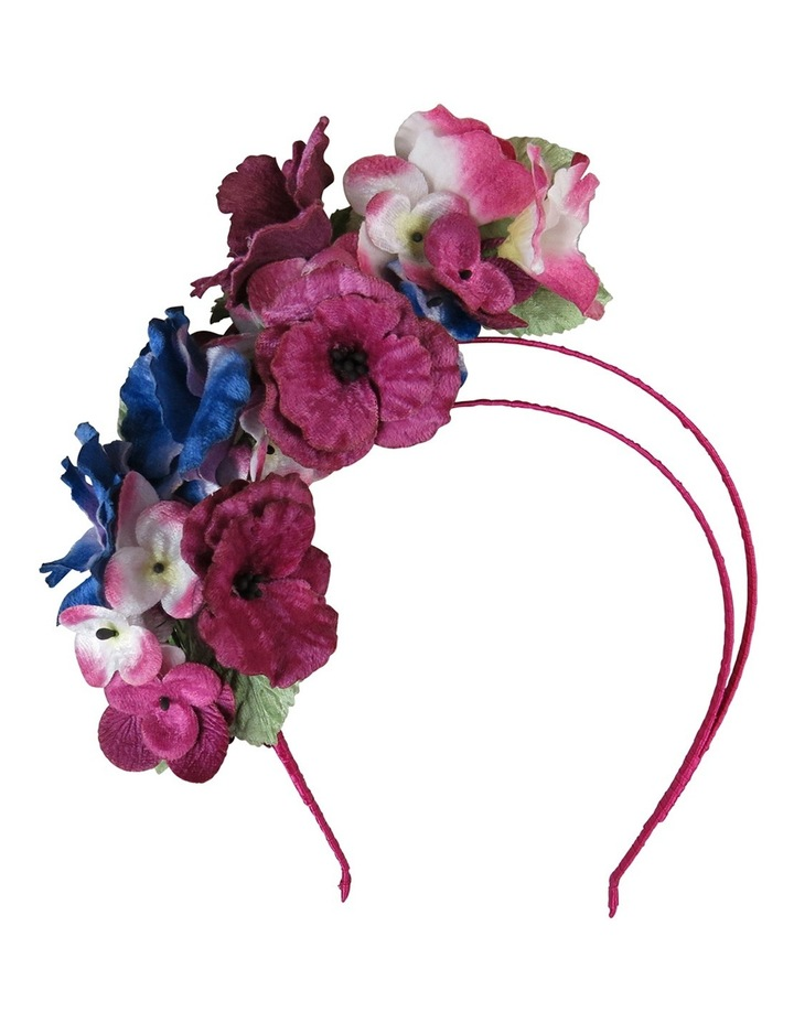 Velvet Flowers On Halo Headband image 1