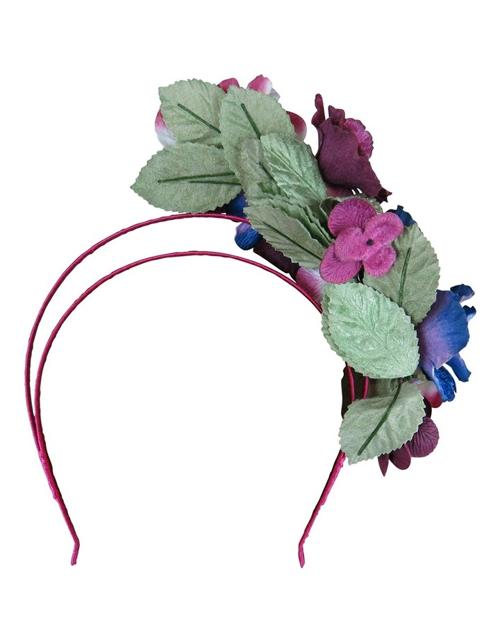 Velvet Flowers On Halo Headband image 3
