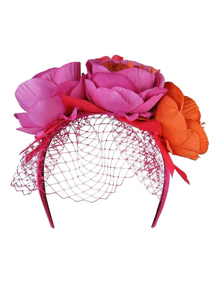 Peony Roses With Veiling On Headband image 1