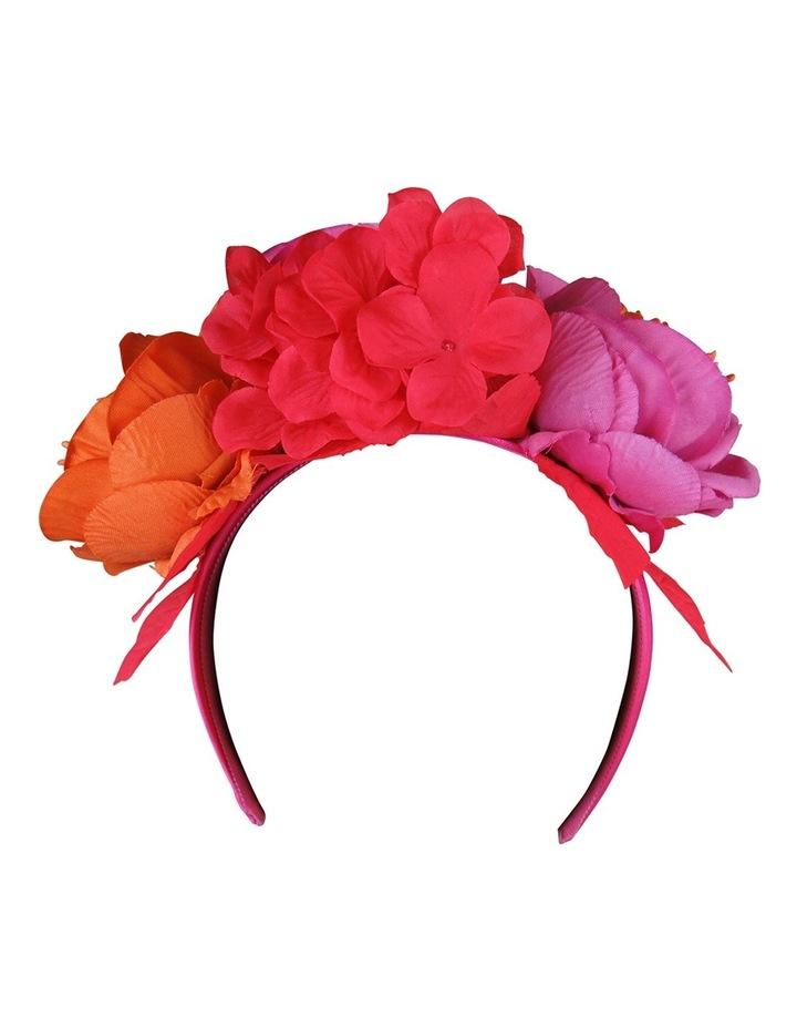 Peony Roses With Veiling On Headband image 2