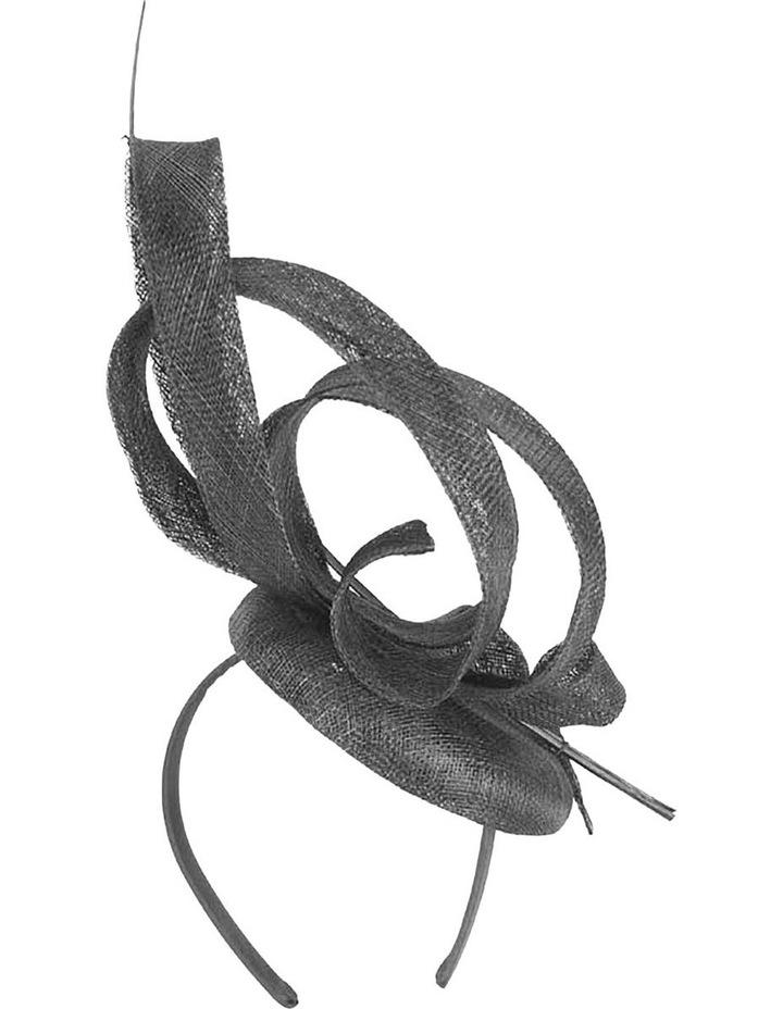 MA752 Sculptured Black Sinamay Fascinator image 3