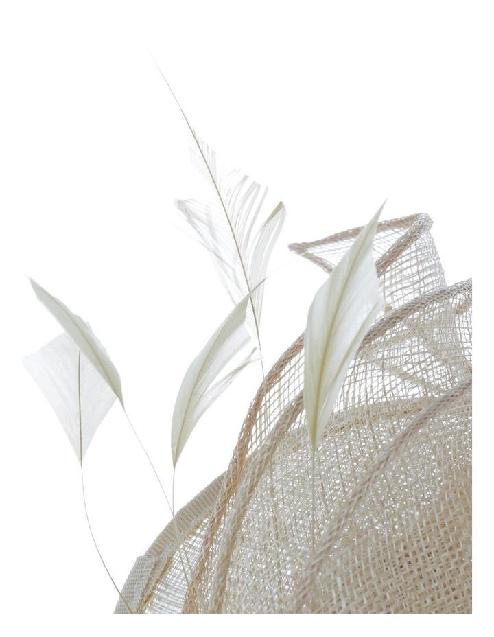 GHRL335M Small Stitched Leaf Fascinator image 3
