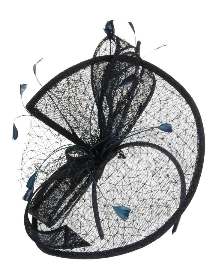 GHRL057M Overlayed Textured Fascinator W Wide Loops And Zizi image 1