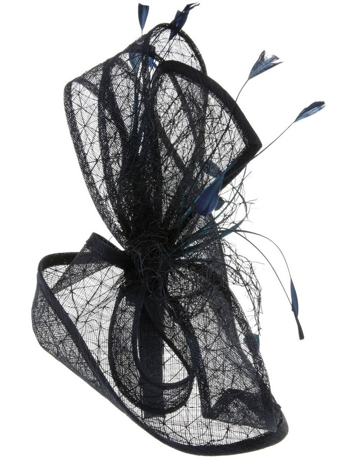 GHRL057M Overlayed Textured Fascinator W Wide Loops And Zizi image 2