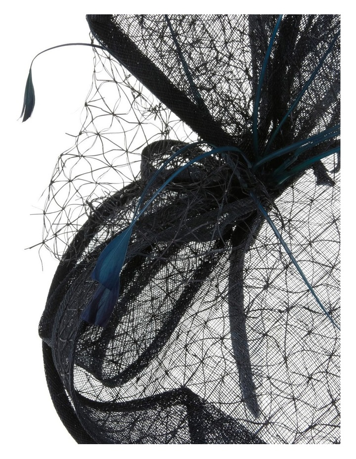 GHRL057M Overlayed Textured Fascinator W Wide Loops And Zizi image 3