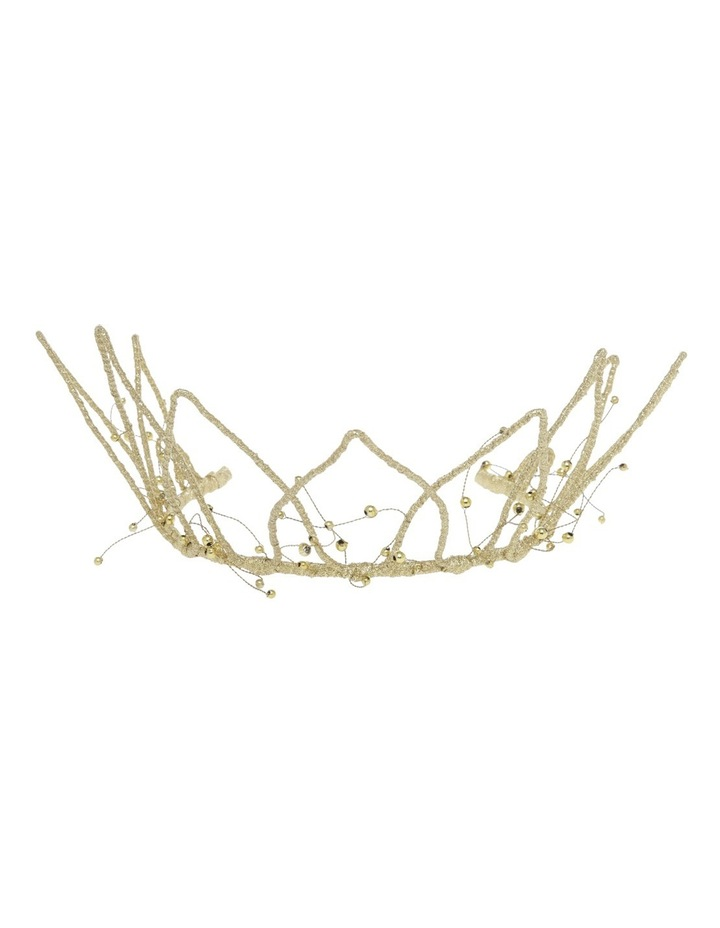 Fine Satin Covered Crown W Beads image 1
