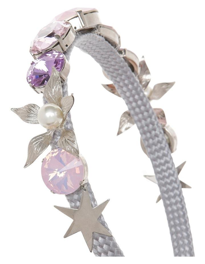 Nadia Lilac, Pink Opal And Rose Crystal Headband image 3