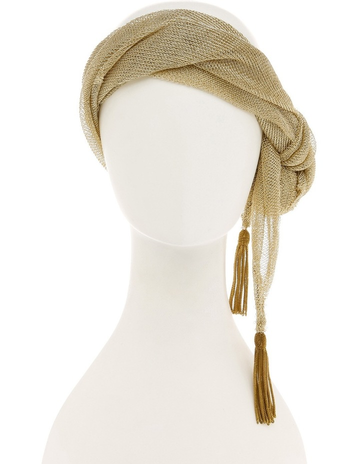 Slim Gold Lurex Side Turban image 2