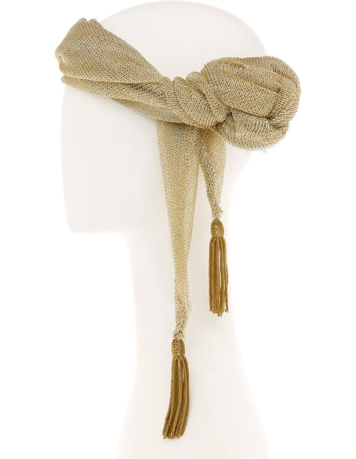Slim Gold Lurex Side Turban image 3