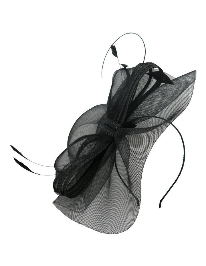 Crinoline Bow & Feathers On Headband image 1