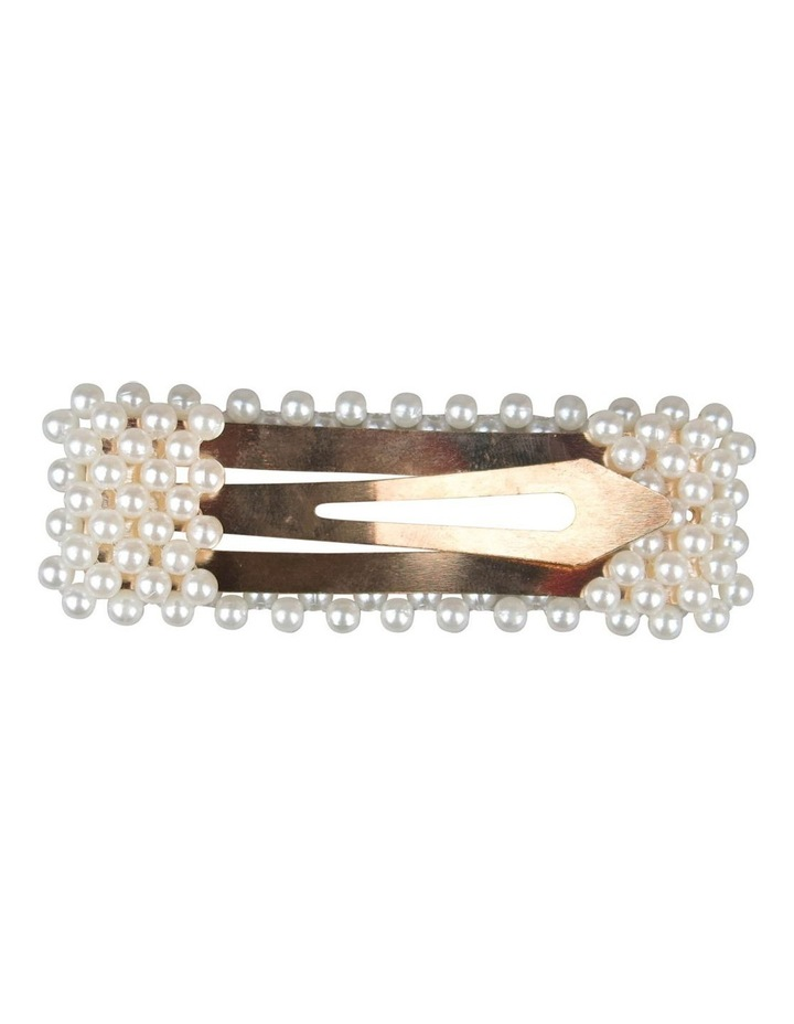 Pearl Hair Clip Rectangle image 3