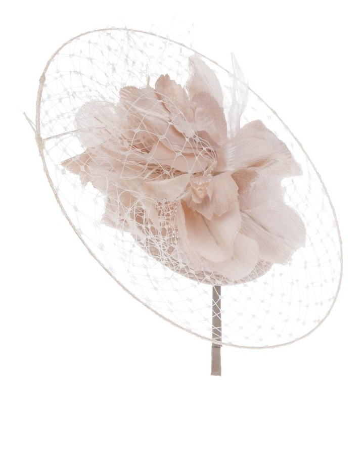 Netted Floral Headband - Silver image 2
