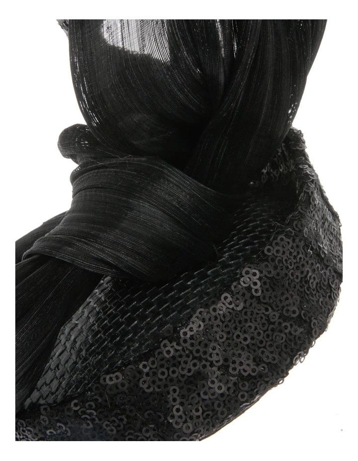Large Sinamay Bow Headband - Black image 3