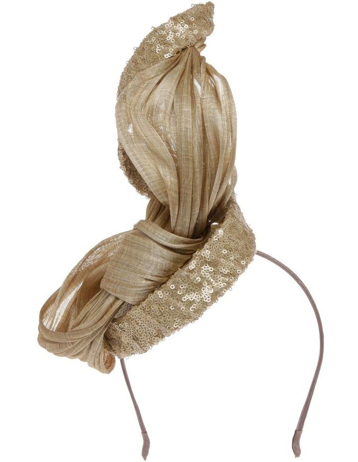 Large Sinamay Bow Headband - Champagne image 1