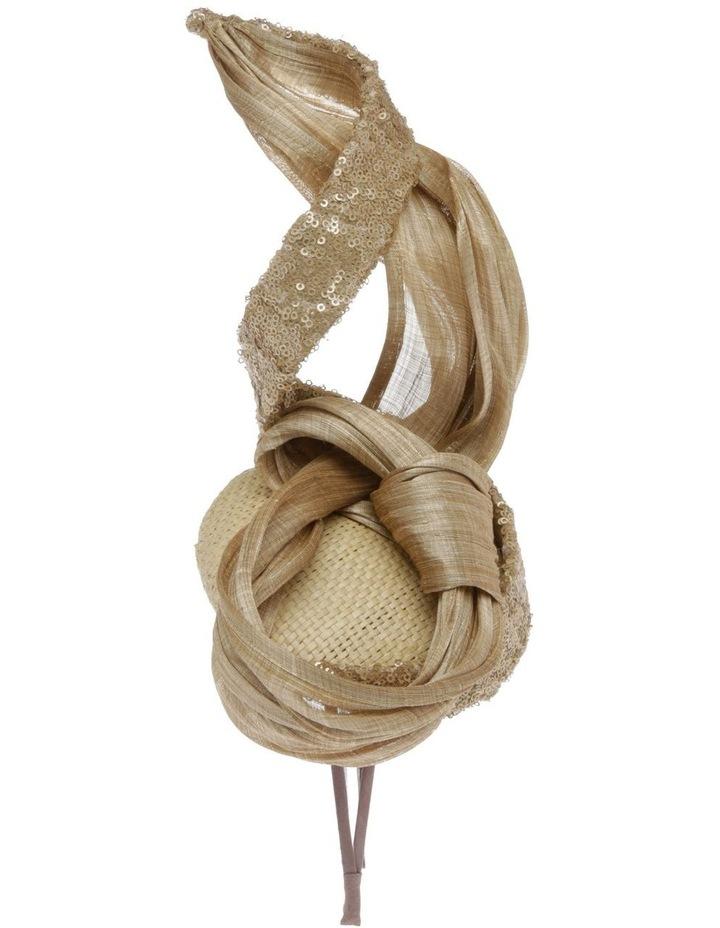Large Sinamay Bow Headband - Champagne image 2