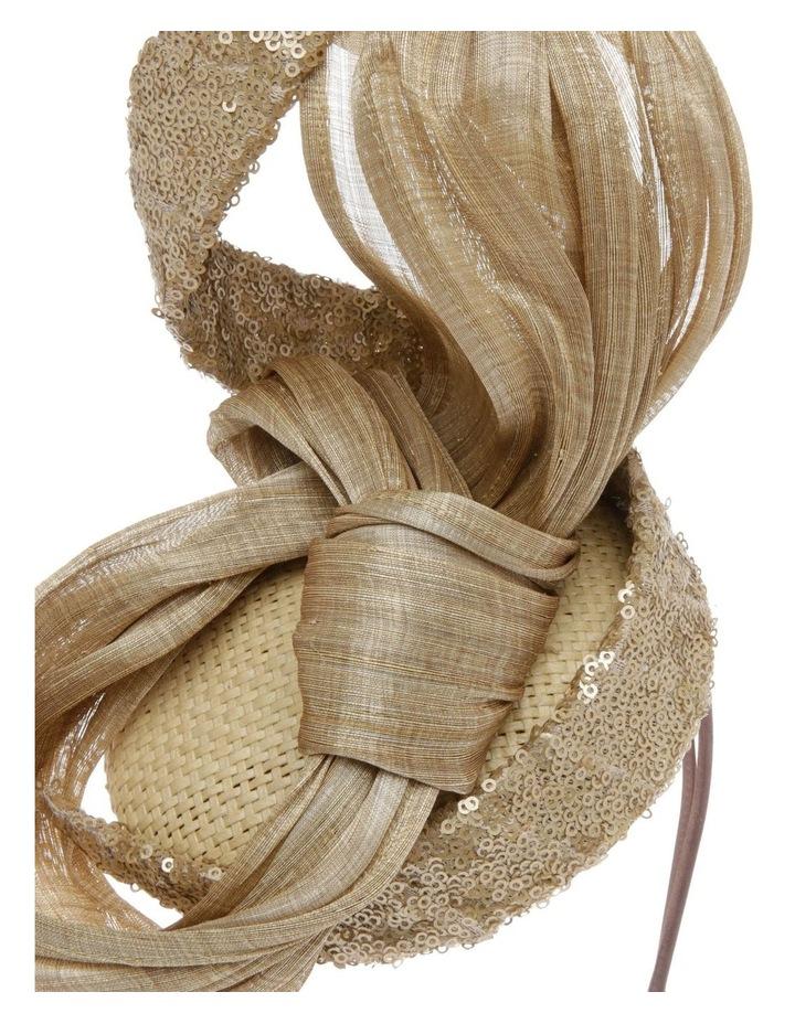 Large Sinamay Bow Headband - Champagne image 3