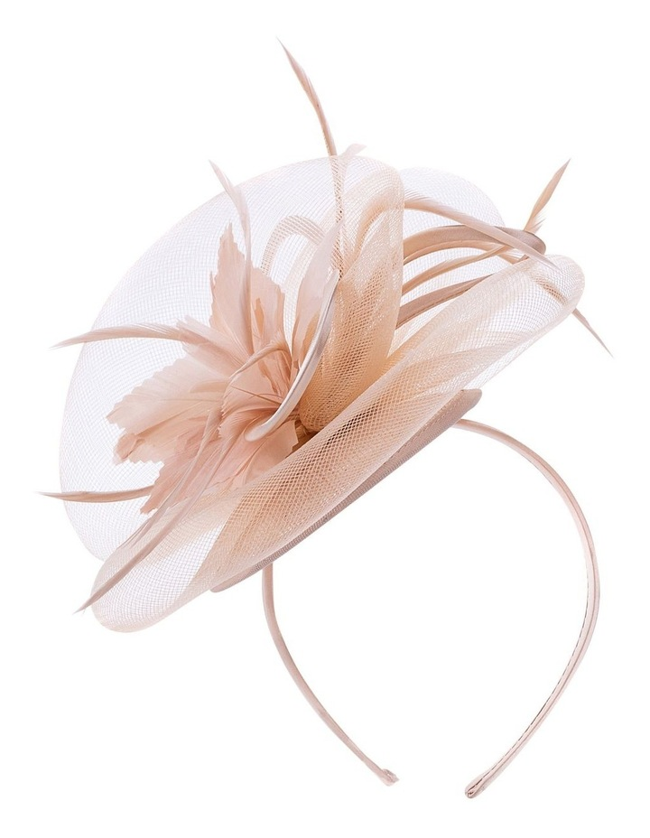Satin Bow With Feather Flower image 1