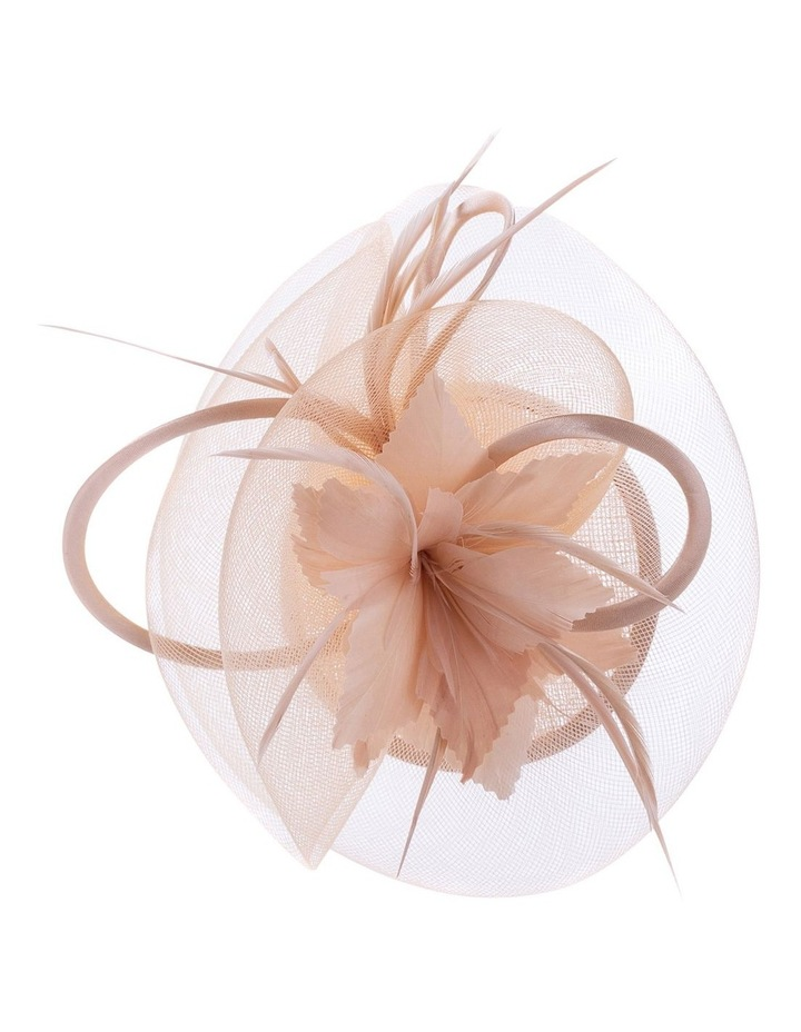 Satin Bow With Feather Flower image 2