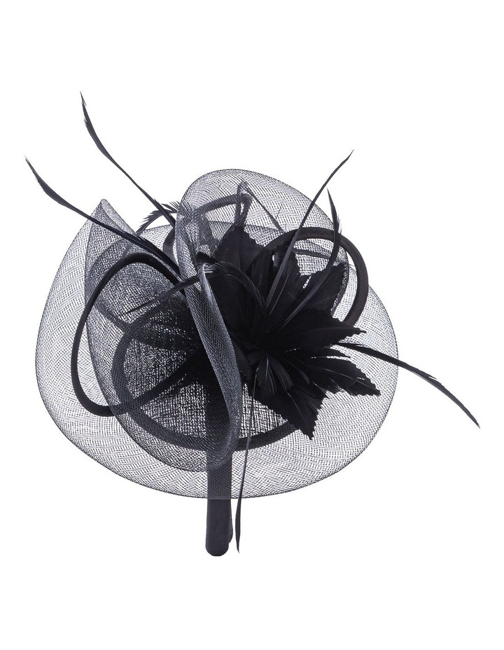 Satin Bow With Feather Flower image 3