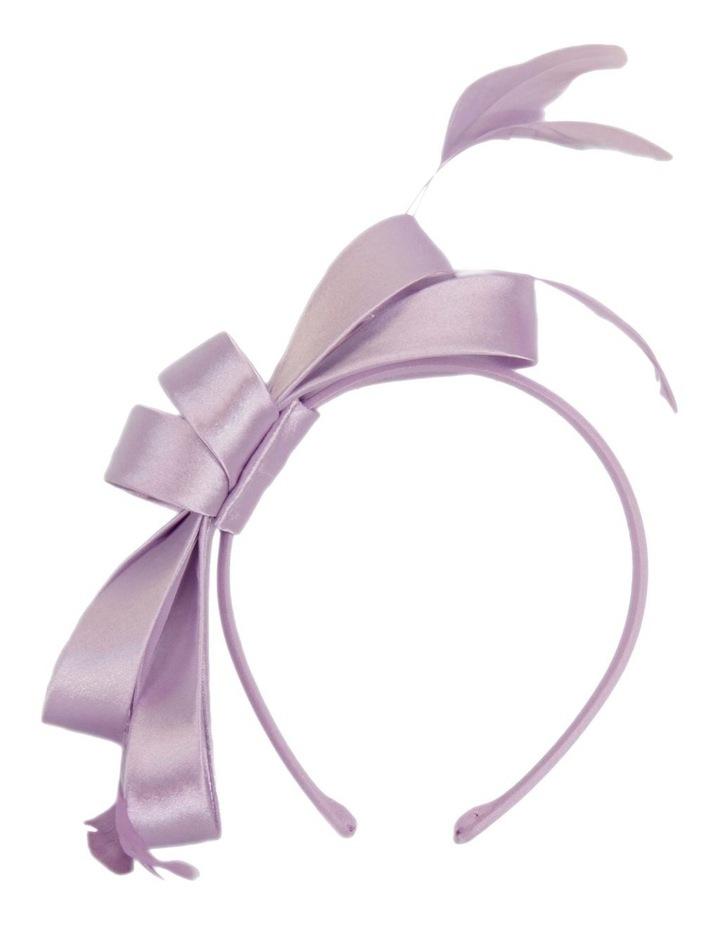 Satin Bow & Feather Headband image 1