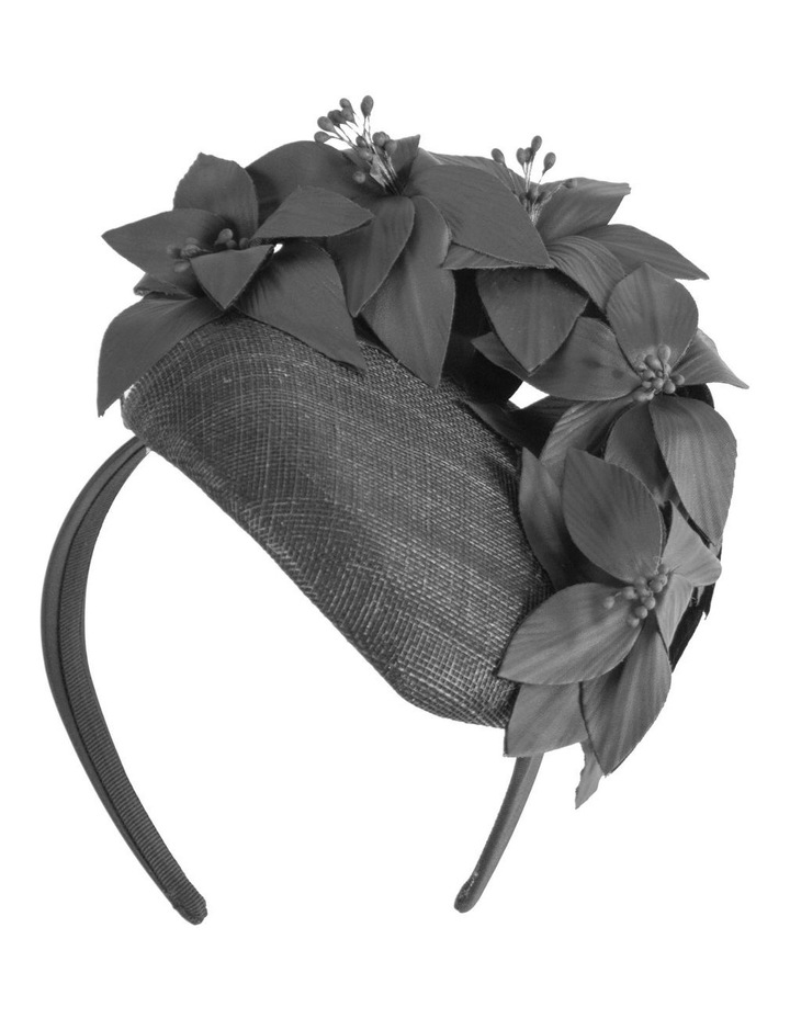 Pill Box With Faux Leather Flower On Band image 1