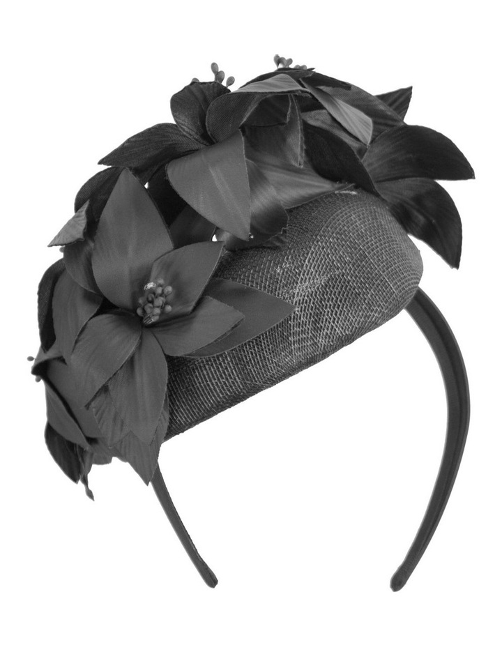 Pill Box With Faux Leather Flower On Band image 2