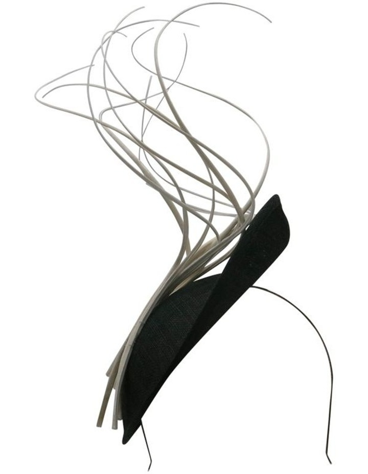 Sinamay Plate With Curled Sticks Fascinator image 1