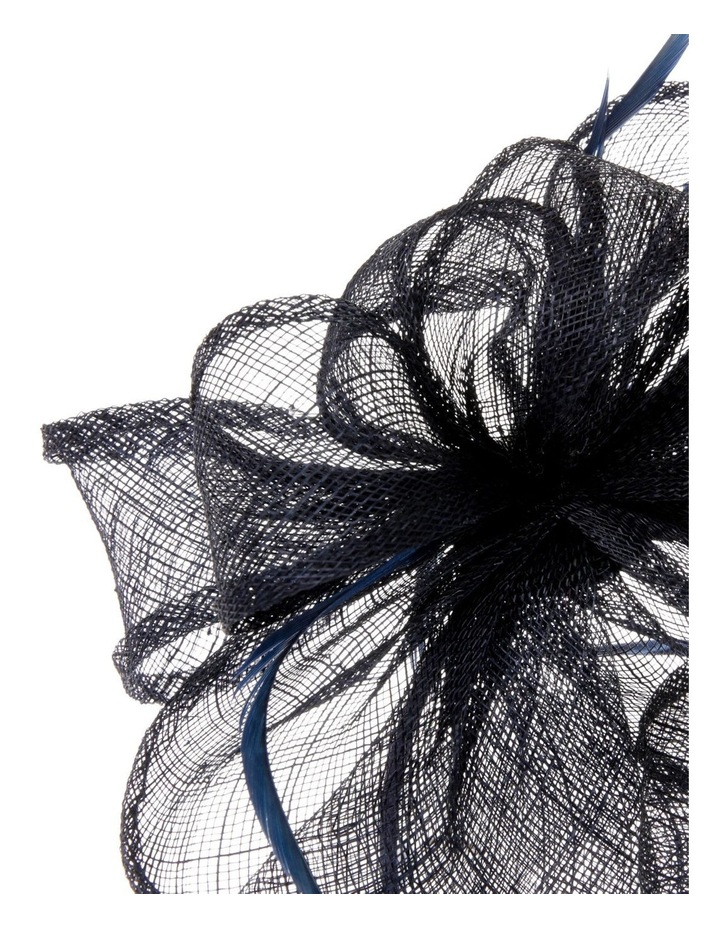 Sinamay Multi-Loop Fascinator with Coque Feathers - Navy image 3
