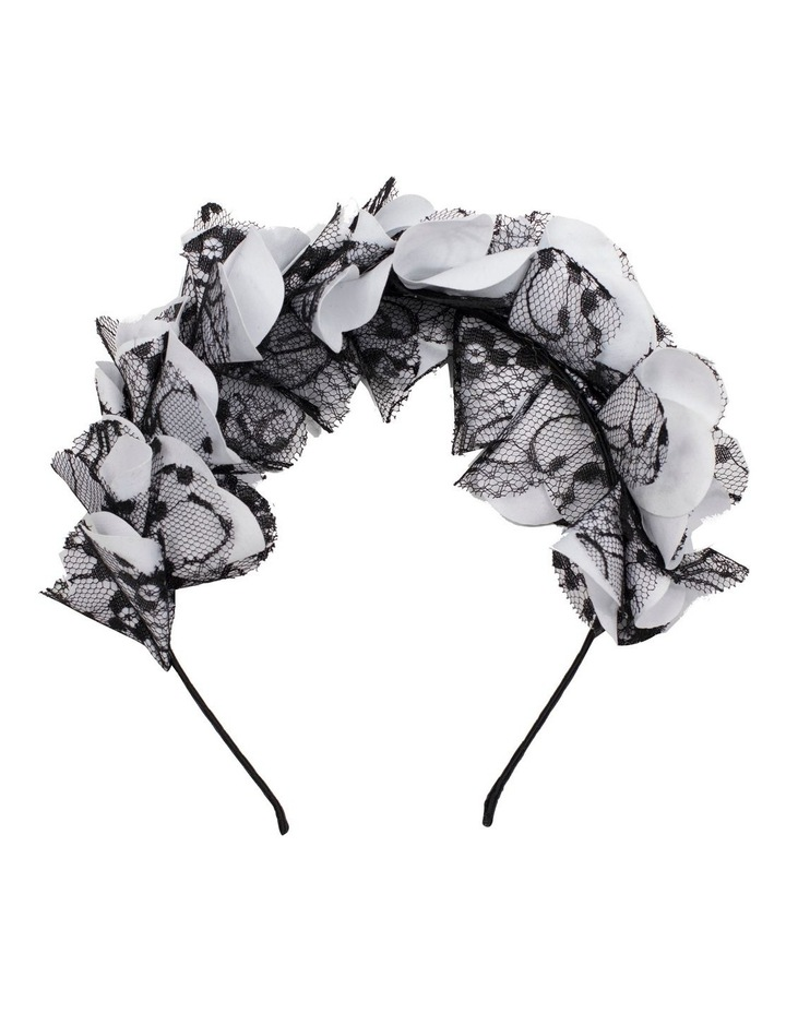 Petal With Lace Overlay Fascinator image 1