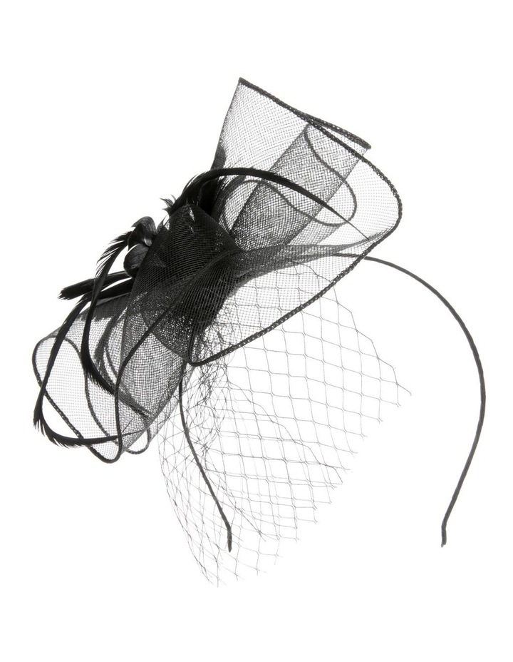 Crinoline Fascinator with Feathers and Veil image 1