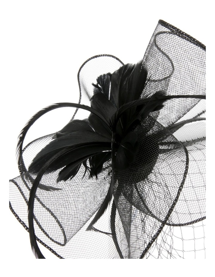 Crinoline Fascinator with Feathers and Veil image 3