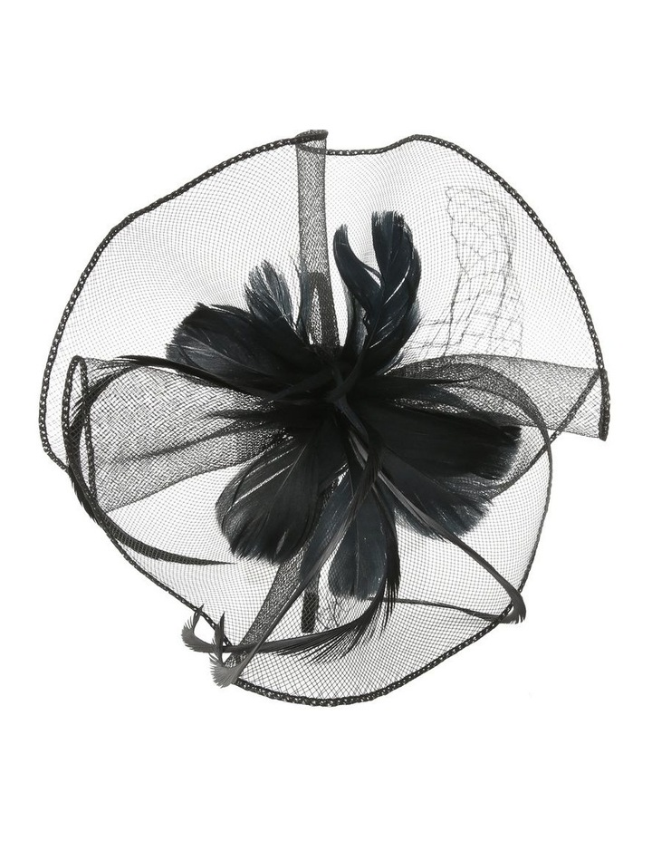 Crinoline Fascinator With Feathers And Veil Fascinator image 2