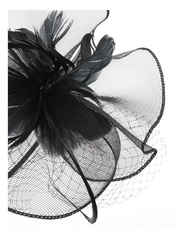 Crinoline Fascinator With Feathers And Veil Fascinator image 3