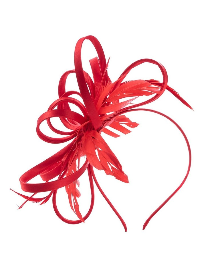 Satin Loops And Feathers Fascinator image 1