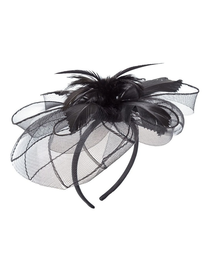 Stiched Crinoline With Feathers Fascinator image 2