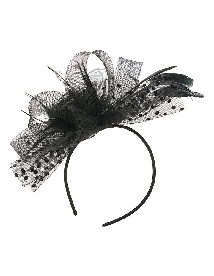 Crin Flower With Hail Spots And Beading Fascinator image 1