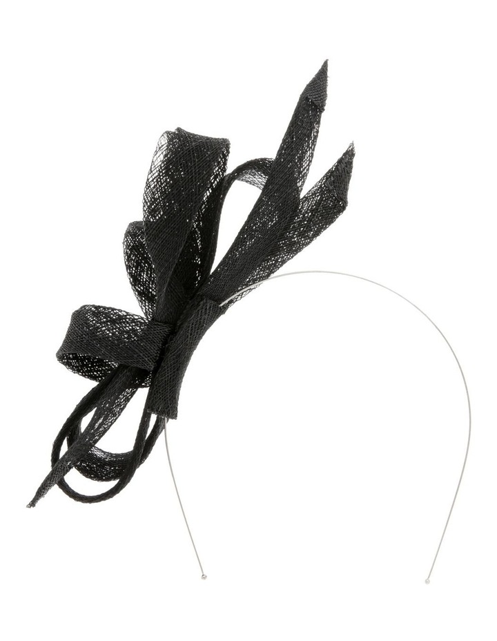 Sinamay Bow Fascinator - Black image 1