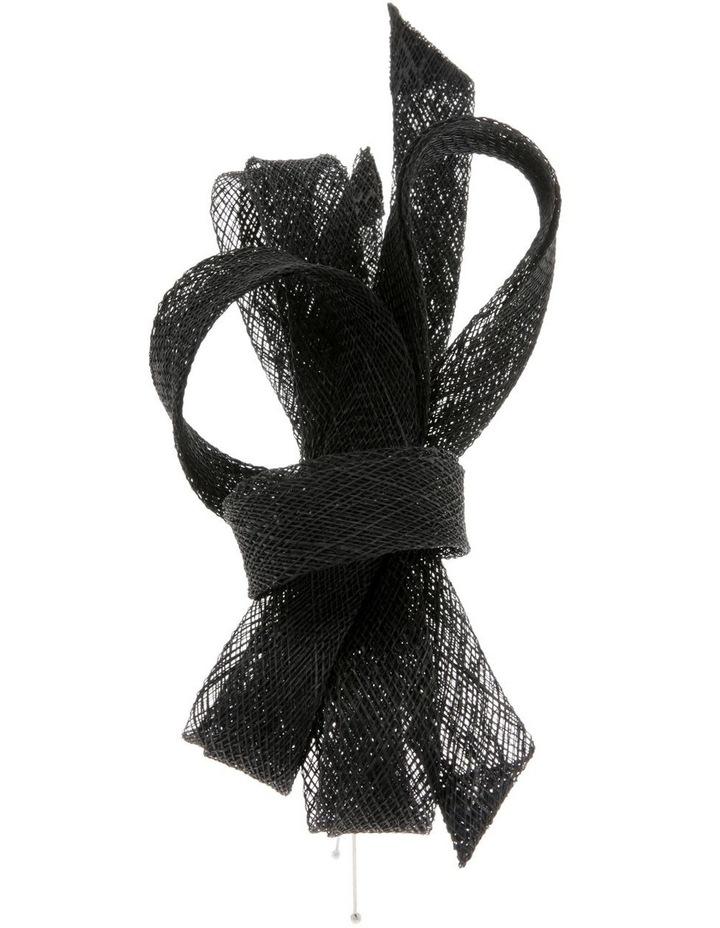 Sinamay Bow Fascinator - Black image 2