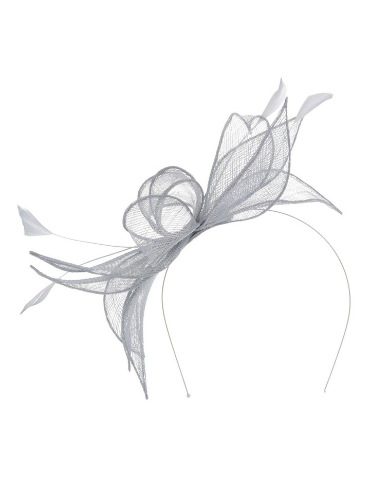 Sinemay Bow With Feathers Fascinator image 1