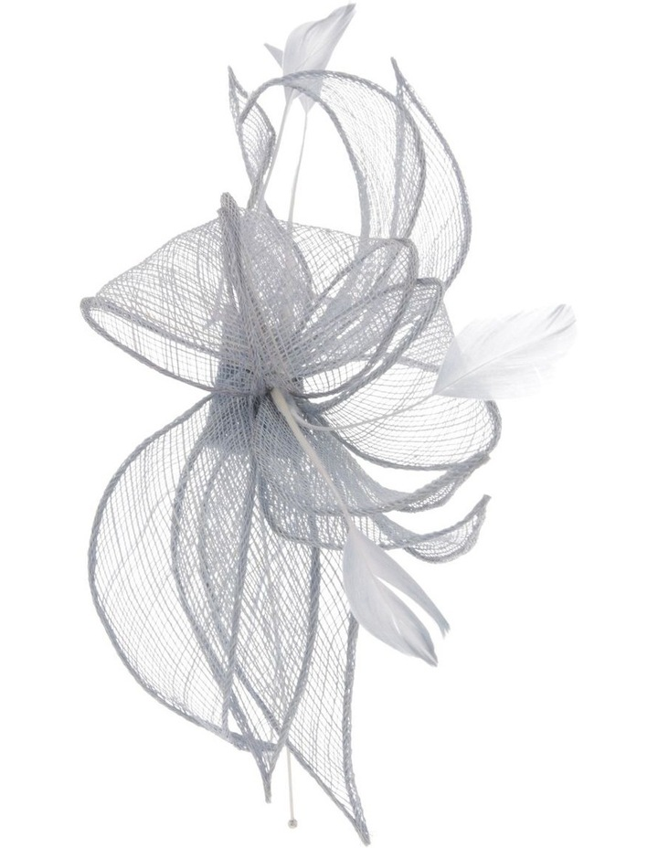 Sinemay Bow With Feathers Fascinator image 2